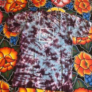 HUF tie dye T shirt size S